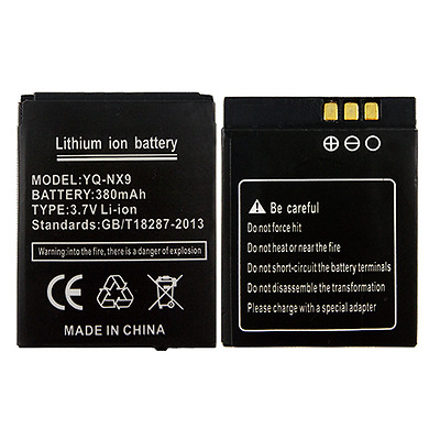 YQ-NX9 battery for DZ09 smart watch 380mAh Long standby battery for smart watch