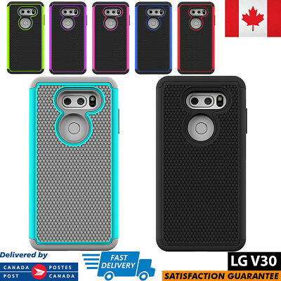 For LG V30 Case Hybrid ShockProof Defender Protective Rugged Cover Anti-Slip