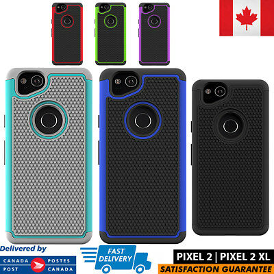 For Google Pixel 2, XL Case Hybrid ShockProof Defender Protective Rugged Cover