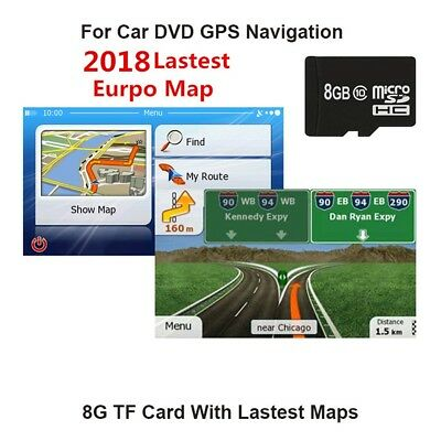 GPS Navigation Micro Card Sat Nav EUROPE ,UK LATEST MAP 2018 For WinCE System