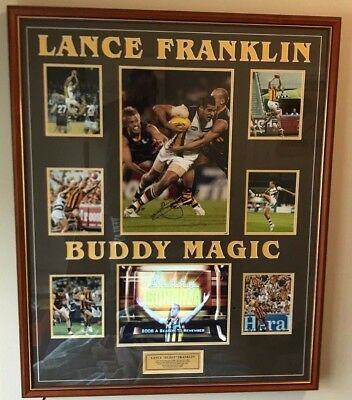 "Lance ""Buddy' Franklin Signed, Framed Hawthorn Print with video"