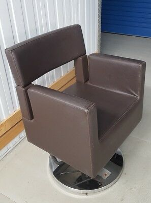 Hair Salon Styling Chair - Brown Leather