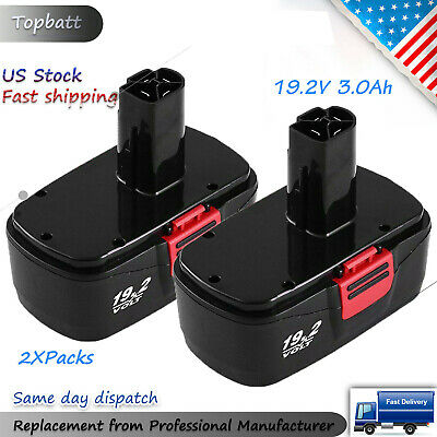 2X Replace for 19.2 Volt Craftsman Battery C3 DieHard 315.115410 315.11485 3.0Ah