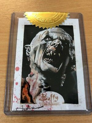 Buffy The Vampire Slayer Ultimate Set Series 3 Sketch Card John Haun (Master)