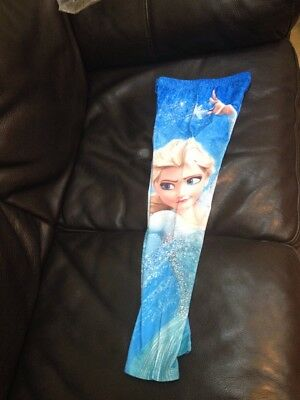 New Girls Frozen Elsa Anna Stretch Leggings Jeggings Trousers Pants Size 9-10