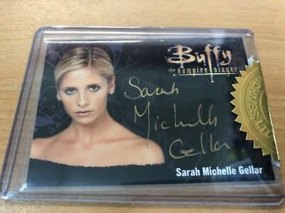 Buffy The Vampire Slayer Set Series 3 Sarah Michelle Gellar Gold Autograph