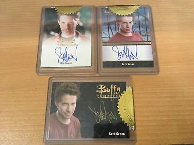 Buffy The Vampire Slayer Set Series 3 Seth Green Gold Autograph & Full Bleed
