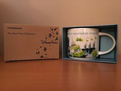 Starbucks HOLLYWOOD STUDIOS You Are Here Coffee Mug - Disney Parks - New In Box