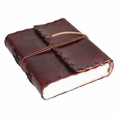 240 Papers Sheets Sketch Book Drawing Notebook Leather Leaf Journal 6x4.5 Inches