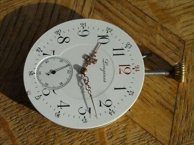 Vintage LONGINES POCKET Watch Movement Cal. 19.75 N for parts.