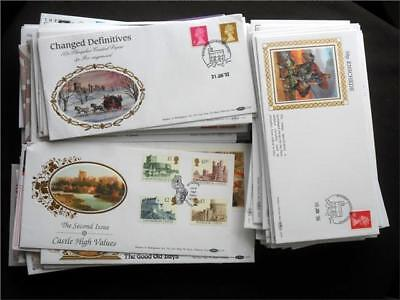 12369aj  GB 1990s BENHAM FIRST DAY COVERS COLLECTION - NICE SELECTION - VIEW ??