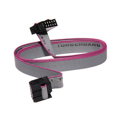 "10-pin IDC Female/Female Flat Ribbon Cable 30/80cm Wire 0.1"" 2.54mm Plug AVR Way"