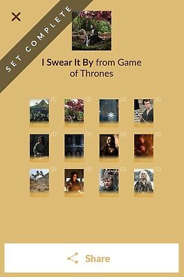 Quidd Game Of Thrones - I Swear It By - Complete Set 1st Edition Digital