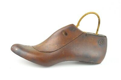 Antique Wooden Shoe Last Size 6 EE New Hampshire Factory Find