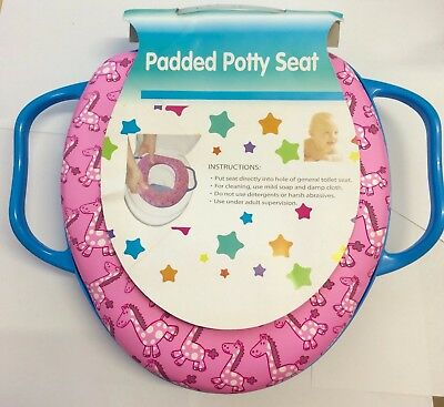 Baby Soft Padded Potty Training Toilet Seat With Handles padded soft kids .