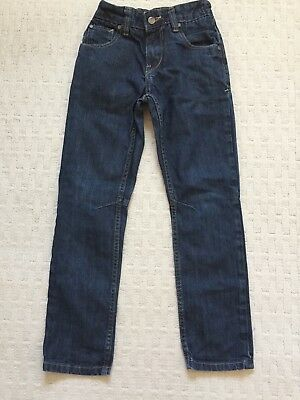 Next Boys Dark Blue Jeans Age 9 Years 134cm. Elasticated Adjustable Waist