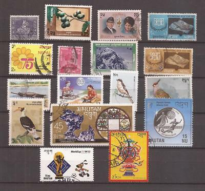 Nepal/buthan  -  Lot Of Stamps