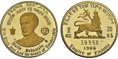 ETHIOPIA Haile Selassie 1958 NI AV 20 Dollars NGCPR69 UCam 75th Birth 50th Reign