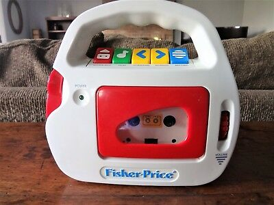 1992 Fisher Price Cassette Player & Recorder Two Tapes Mic Model 3800 Nr Mint !!