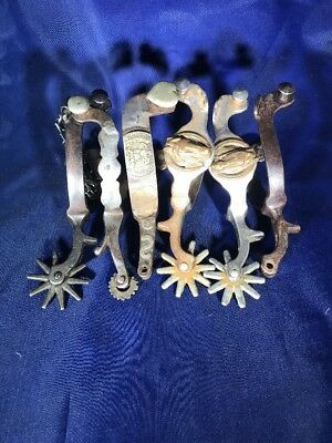 6 Miscellaneous Spurs of Varying Makers and Conditon