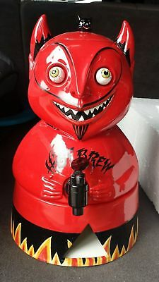 Department 56 Devil Satan Hot Brew Cider Dispenser Server Ceramic Googly Eye