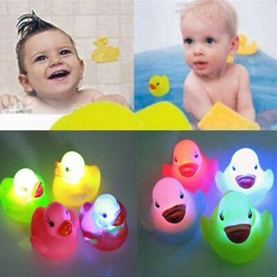 1/3/5/10Pcs Baby Bath Time Toy Changing Color Duck Flashing LED Lamp Light Lot