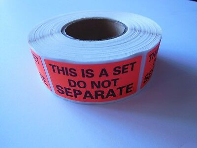 THIS IS A SET DO NOT SEPARATE Label Sticker Red Fluorescent 500/rl  (1 Roll)