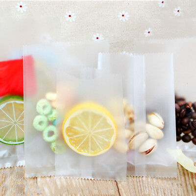Matte Clear Plastic Pouches Heat Seal Vacuum Bags Food Storage Packaging