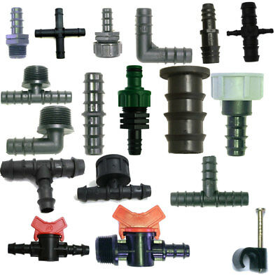 13mm Tee Elbow Hose Fitting Garden Irrigation Pipe Connector Hozelock