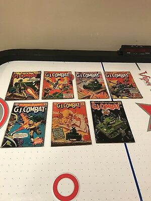 G. I. Combat Lot of 7 Books.  The Haunted Tank!