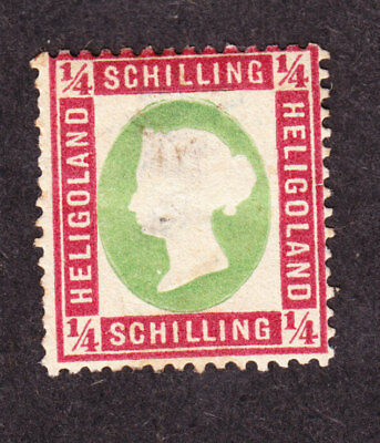 old germany heligoland 0,25 Schilling 1873 Mi#8a 8a MH * expertized proved