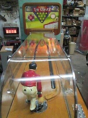 5 Cent Evans Ten Strike Bowling Alley Arcade Machine