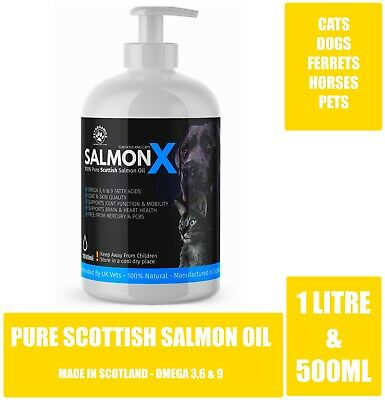 Pet Organics - 100% Pure Scottish Salmon Oil For Cats & Dogs & Pets Omega 3,6,9
