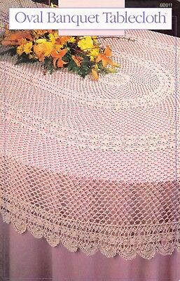 Used Oval Banquet Tablecloth Digest Size Crochet Pattern Book