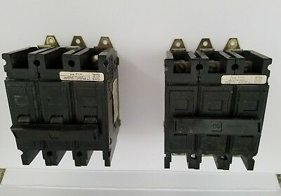 Westinghouse 3 pole circuit breaker 60 amp 240 v lm5907 lot of 2