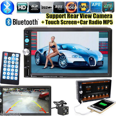 "7"" 2 DIN Bluetooth HD Autoradio Auto Stereo MP5 Media Player DVR AUX USB FM TF"
