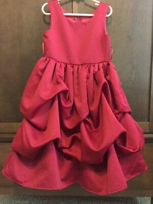Beautiful Cranberry Red Formal Dress Size 6 Girl