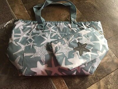 Thirty One Starfish Splash Tote-ally Thermal & Cool Clip Thermal Pouch Set
