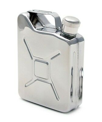 New 5oz Stainless Steel Jerry Can Hip Flask novelty gift.