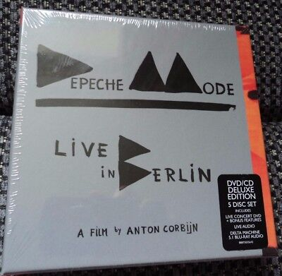 RARE Depeche Mode CD/DVD Live Berlin 5 Disc Set SEALED 5.1 Delta Machine Blu Ray