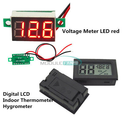 3-Digital LED Voltmeter Meter LCD Temperature Humidity Thermometer Hygrometer