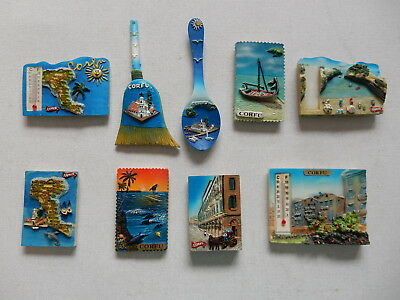 One Selected 3D Souvenir Fridge Magnet from Corfu Greece