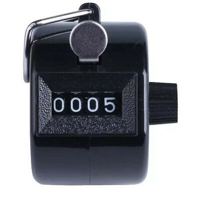 Color Digital Hand Held Tally Clicker Counter 4  Number Clicker Golf ChromeA