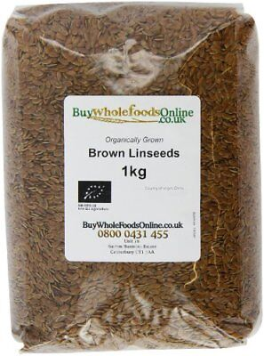 Buy Whole Foods Organic Linseed Brown 1 Kg