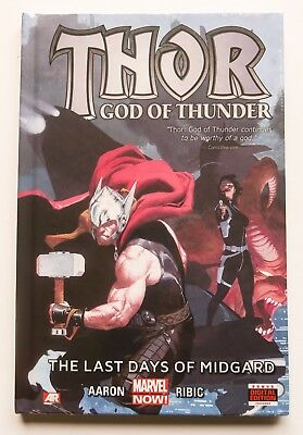 Thor God of Thunder The Last Days of Midgard Vol 4 Hardcover NEW Marvel Now Book