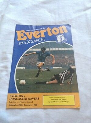 Everton v Doncaster Rovers - 26/1/1985 FA Cup Round 4 Official Programme