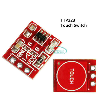 10Pcs TTP223 Capacitive Self-Lock Touch Switch Button Module For Arduino