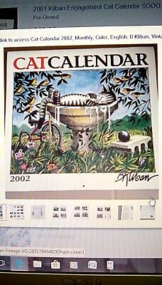 Reduced Kliban Cat Calendar 2002, Monthly, Color, English