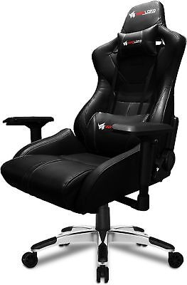 Gelid Solutions Warlord Templar Gaming Chair, Black