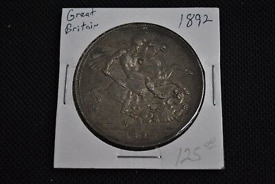 1892 Great Britain Crown - Silver